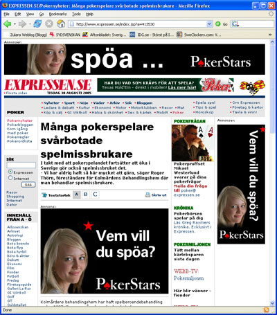 Expressens poker artikel